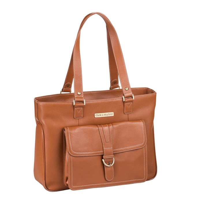 "15.6"" Stafford Leather Pro Handbag -  Camel"