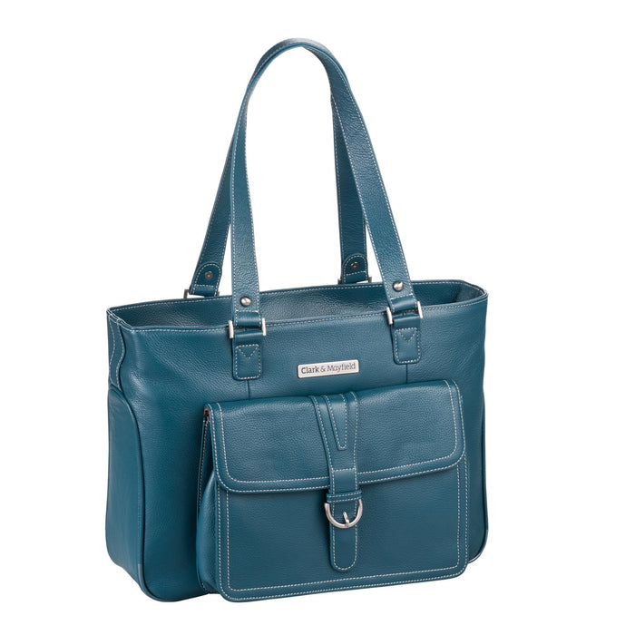 "17.3"" Stafford Pro Leather Handbag - Deep Teal"