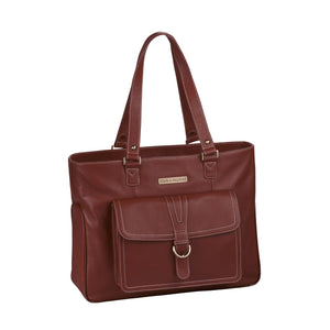 "17.3"" Stafford Pro Leather Handbag - Port Red"