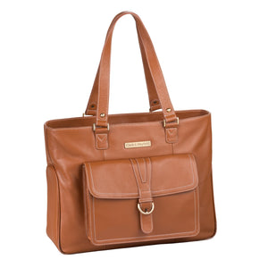 "17.3"" Stafford Pro Leather Handbag - Camel"
