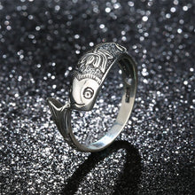 925 Sterling Silver Ring classic fish ring