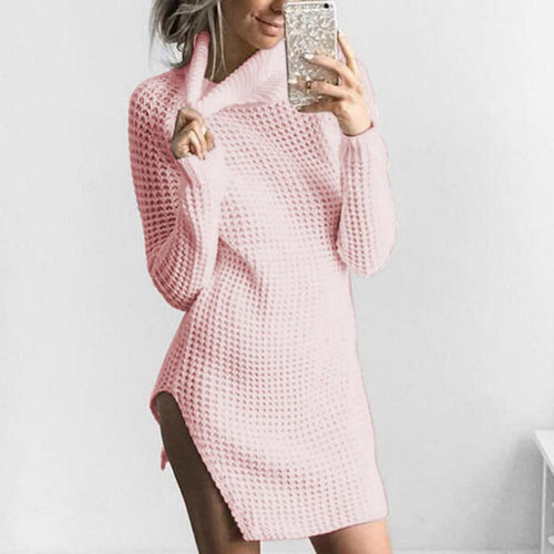 Knitted Long Sleeve Turtleneck