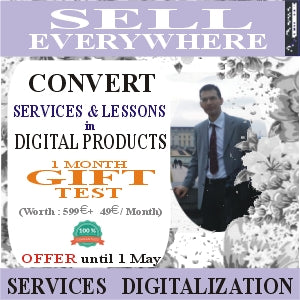 SERVICES DIGITALIZATION How to convert your services ... courses to digital products and how to find customers globally & automatically from 599 euros + ABO from 49 euros / month