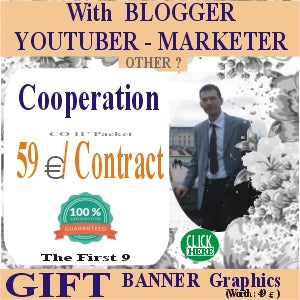 Aggreement with Blogger YouTuber Other for an Advertising Partnership. With 59 euros / agreement