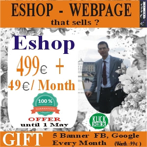 Create eshop Development of the Eshop website with 499 euros + Subscription