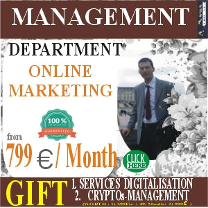 Management of the ONLINE MARKETING department from 799 euros / month