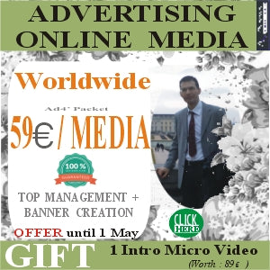Management Administration & Banner Creation in Online Media Worldwide with 59 euros / Media.