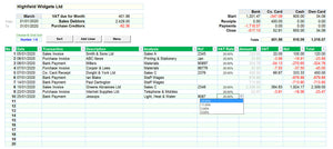 Accounting Spreadsheet with MTD VAT