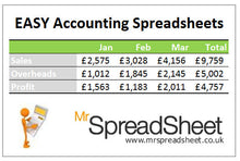 Accounting Spreadsheets that are Easy to use