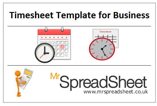 Timesheet Spreadsheet Template for Business