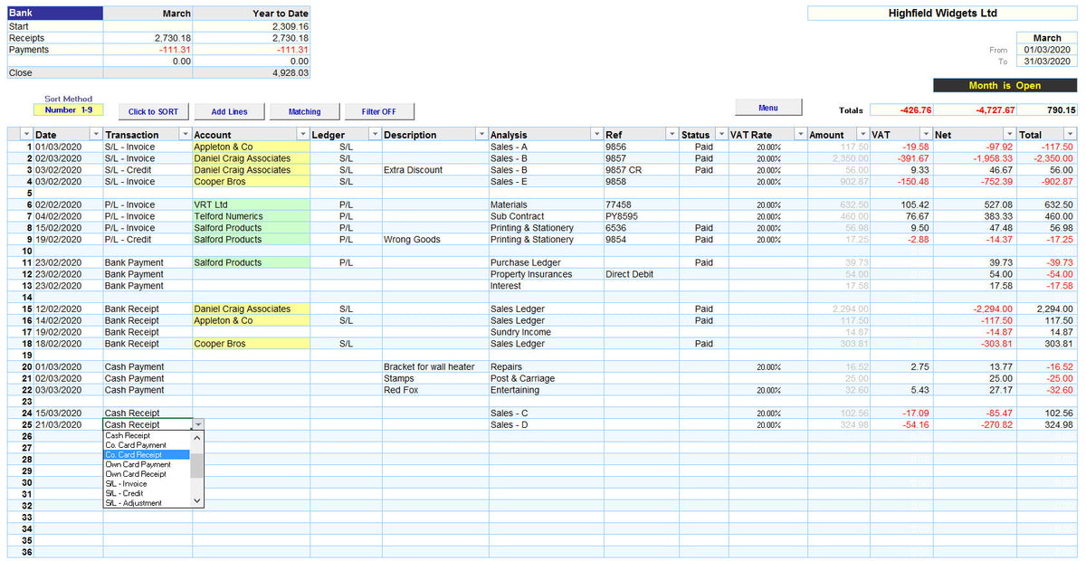 Excel Accounting Spreadsheet Templates Making Tax Digital Version Mr Spreadsheet