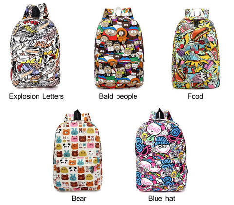 Graffiti backpacks
