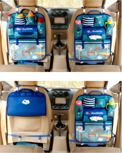 Cartoon Baby Car Seat Back Storage - Various Designs