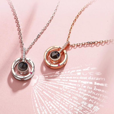 Love Projection Necklace (I Love You in 100 Languages)