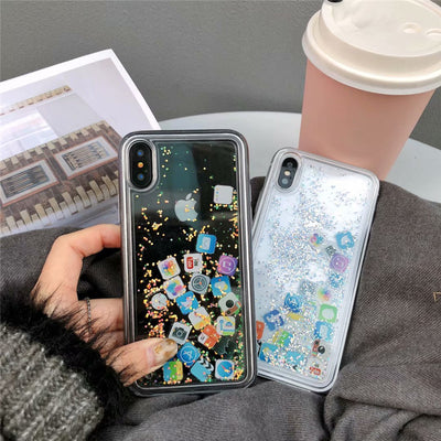 Mobile Apps Icon Phone Case For iPhone X 6 6s Plus 7 8 plus 10