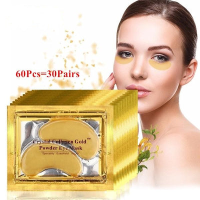 24K Gold Crystal Collagen Eye Mask Eye Patches  - 60Pcs - 30 pairs