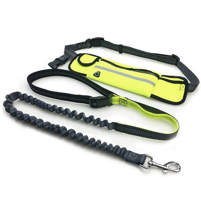Hand Free Elastic Waist Dog Leash for Running or Jogging - GeniusSo