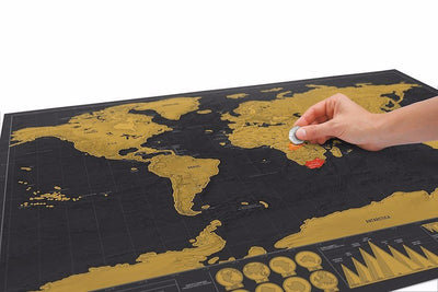 Black Scratch Off World Map - GeniusSo
