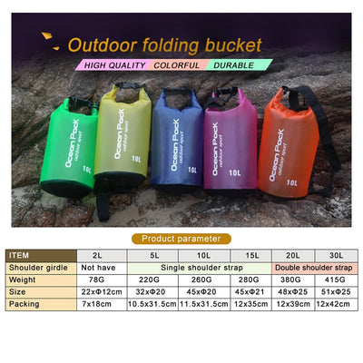 Outdoor Waterproof Swimming Bag - 2L 5L 10L - GeniusSo - Genius Shopping Online