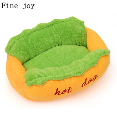 Hot Dog Bed Cushion Dog Bed - GeniusSo