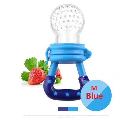 Silicone Baby Nibbler Pacifier Feeder For Fruits and Food - 3 colours - GeniusSo - Genius Shopping Online