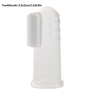 3Pcs/set Pet Finger Double Head Toothbrush - GeniusSo