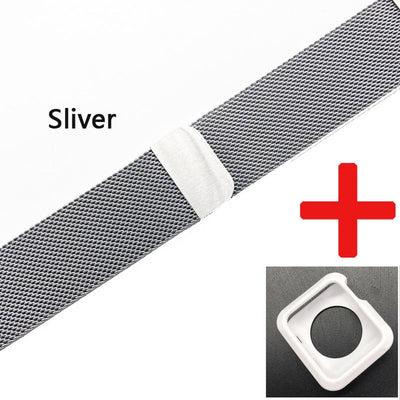 Stainless Steel Wrist Band For Apple iWatch- 42mm/38mm - GeniusSo