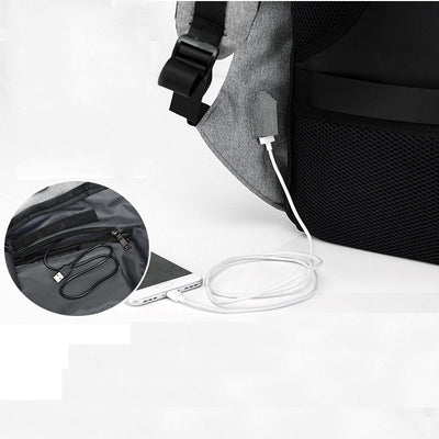 GeniusSo - USB charging anti theft backpack