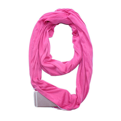 Women Convertible Scarf With Zipper Pockets