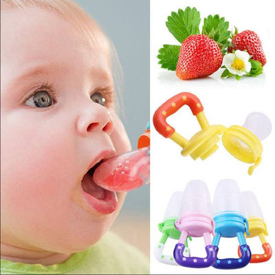 Silicone Baby Nibbler Pacifier Feeder For Fruits and Food - 3 colours