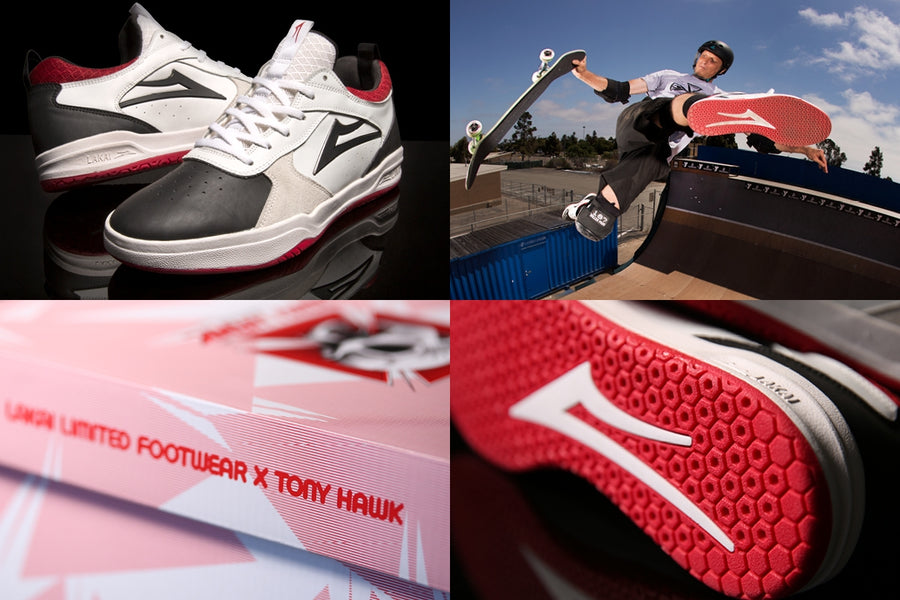 Lakai Giving Tony Hawks The Shoe He Deserves...