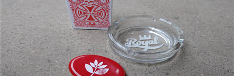 Ashtray and playing cards