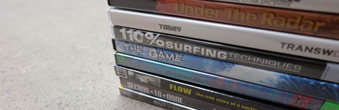 Stack of Surfing related Dvds