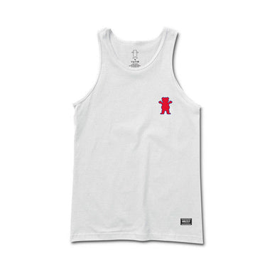 Grizzly - Mini Bear 01 Tank Top/Vest - White SALE-Magic Toast