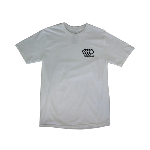 Magic Toast - Mini Logo T-Shirt - White-Magic Toast