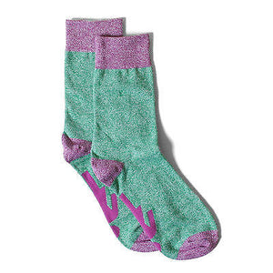 Girl Skateboards - Cotton Marled Socks - Green/Pink-Magic Toast