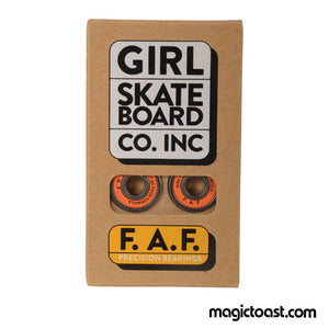 Girl Skateboards - FAF Skateboard Bearings Set of 8-Magic Toast