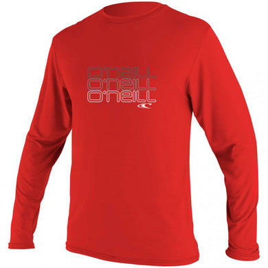 O'Neill - Toddler Skins Long Sleeved Rash Vest/Tee - Red-Magic Toast