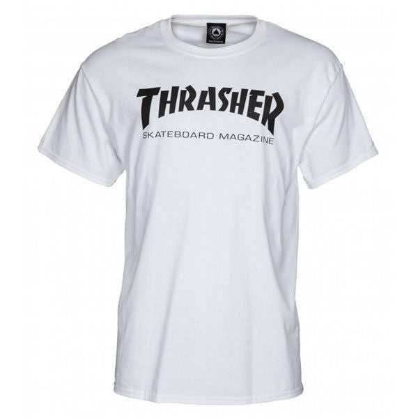 Thrasher Skateboard Magazine - T-Shirt - White-Magic Toast
