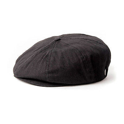 Brixton - Brood Hat - Black Herringbone-Magic Toast