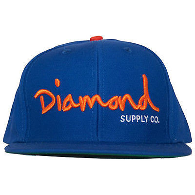 Diamond Supply Co. - OG Logo Snap Back Hat - Royal/Orange/White, Black/Orange, Red-Magic Toast
