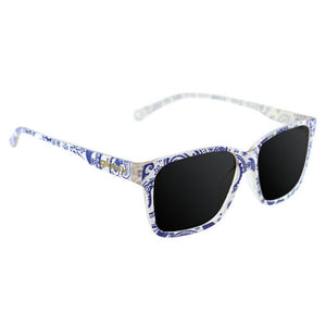 Glassy Sunhaters - Fritz Sunglasses - Paisley White/Purple-Magic Toast