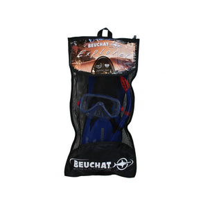 Beuchat Jetta Explorer Mask, Snorkel & Fins Set Junior Blue UK 13 - 2.5-Magic Toast