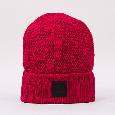 Diamond Supply Co. - OG Checker Beanie Hat Burgundy SALE-Magic Toast