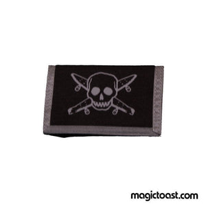 Fourstar - Pirate Skateboard Wallet - Black Grey SALE-Magic Toast