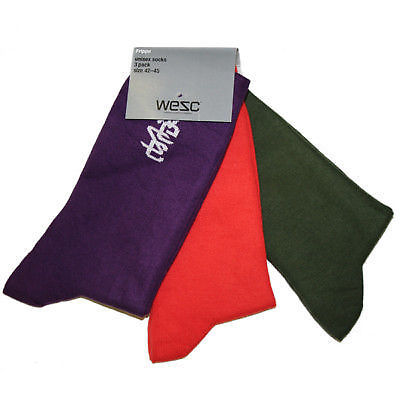 WeSC - Frippe 2 Socks x 3 Pairs 39-42 - Assorted-Magic Toast