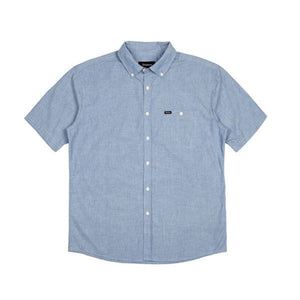 Brixton - Central SS Woven Short Sleeve Shirt - Light Blue Chambray SALE-Magic Toast