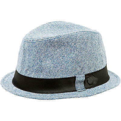 Elm Company Ellington Fedora Tweed Blue S/M-Magic Toast