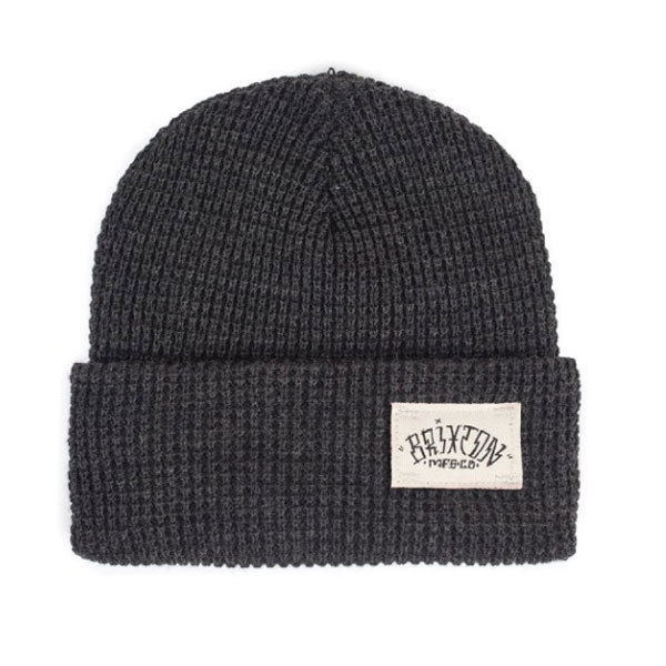 Brixton - Borrego Beanie Hat - Washed Black-Magic Toast
