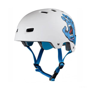 Bullet X Santa Cruz Screaming Hand Helmet White Large/Extra Large Skateboarding-Magic Toast